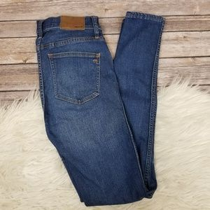 "Madewell 9"" High Rise Skinny Jeans Blue Denim 26T"